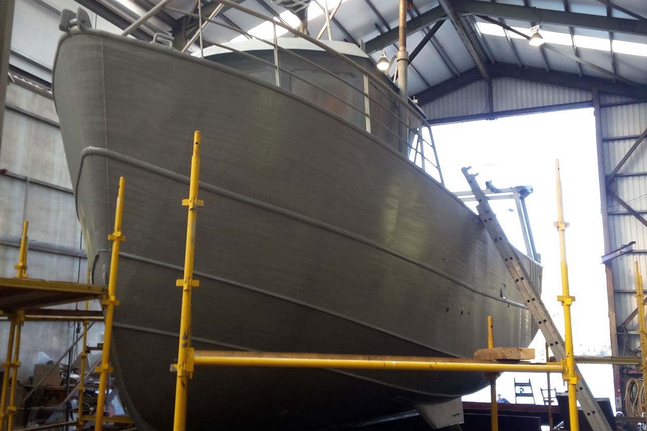 Boat after Metal Spraying