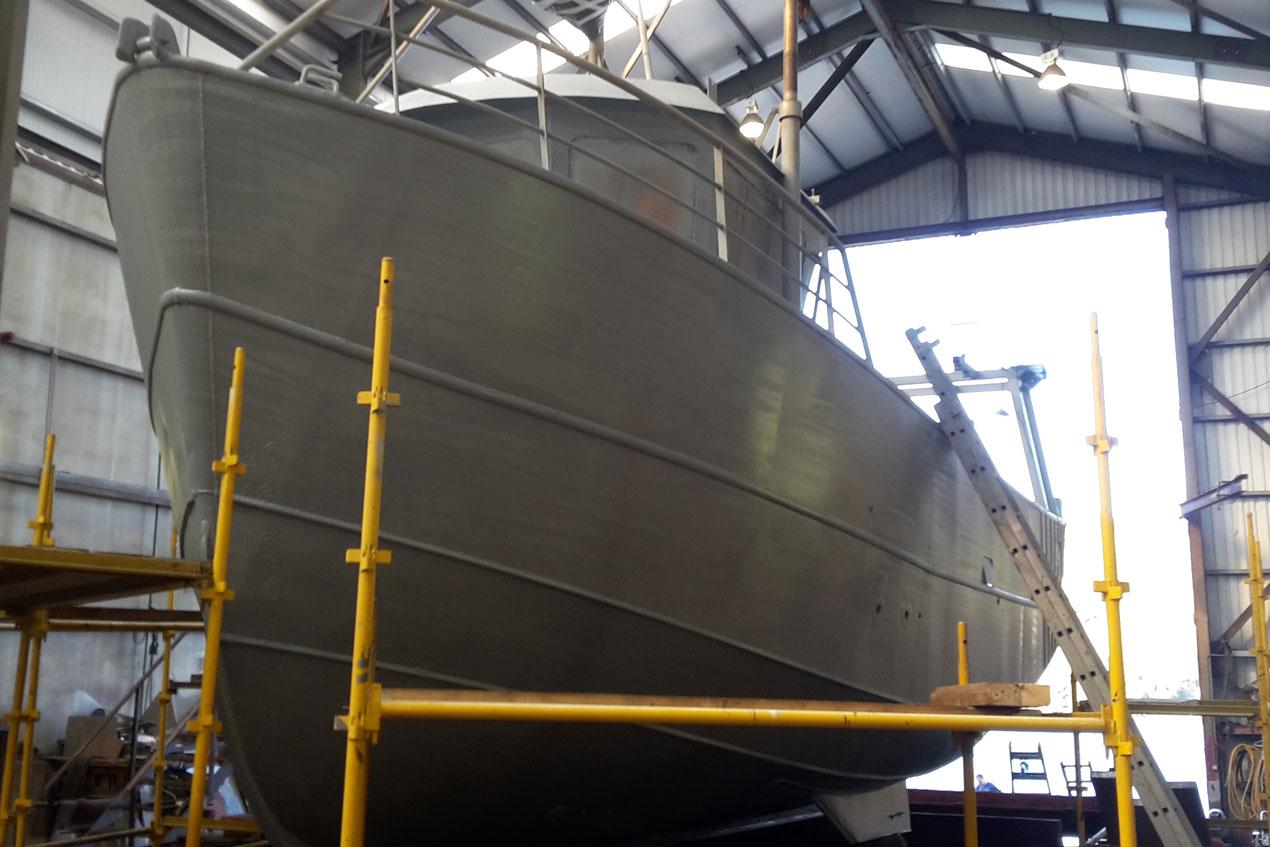 Boat after Metal Spraying