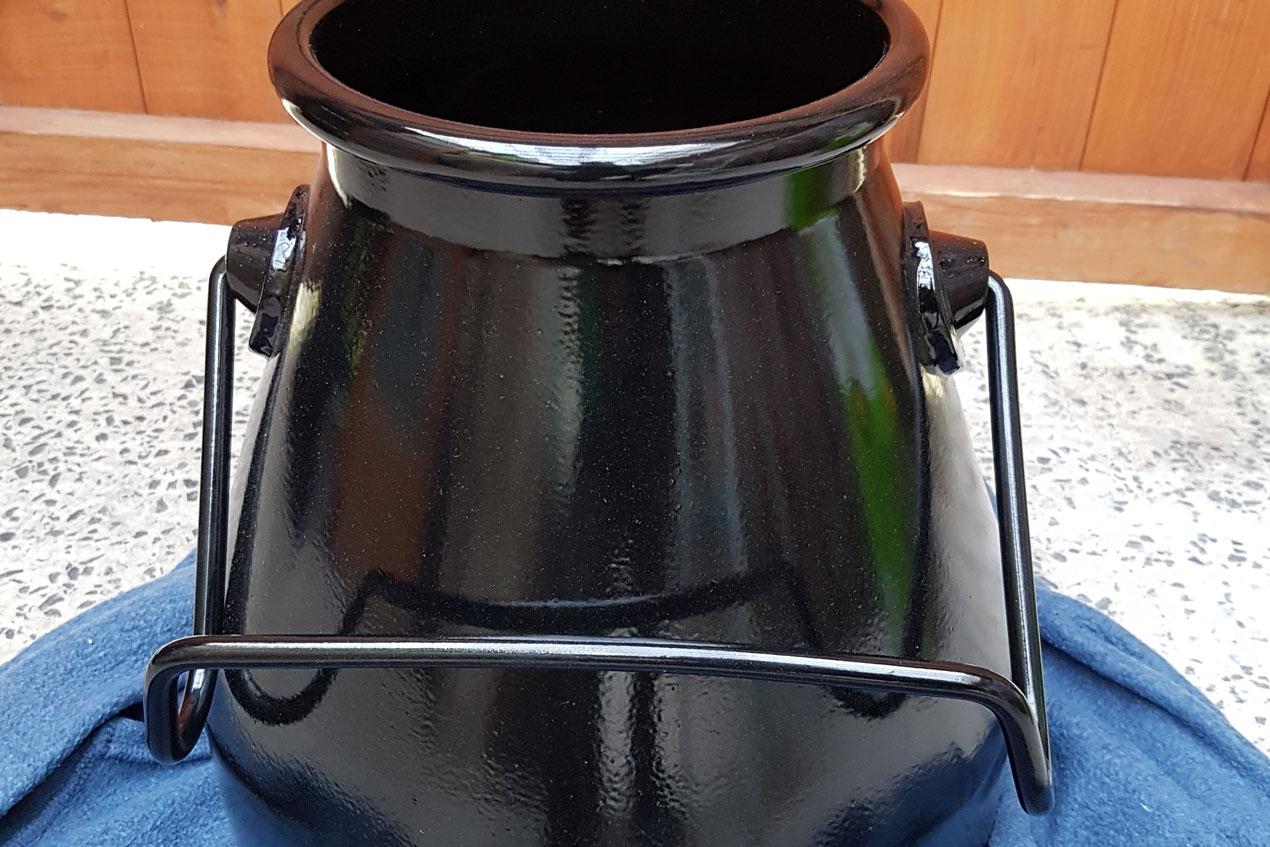 Powder Coating Milk Churn